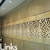 Links-Marble & Metal Mosaic