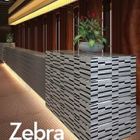 Zebra-Marble & Glass Mosaic